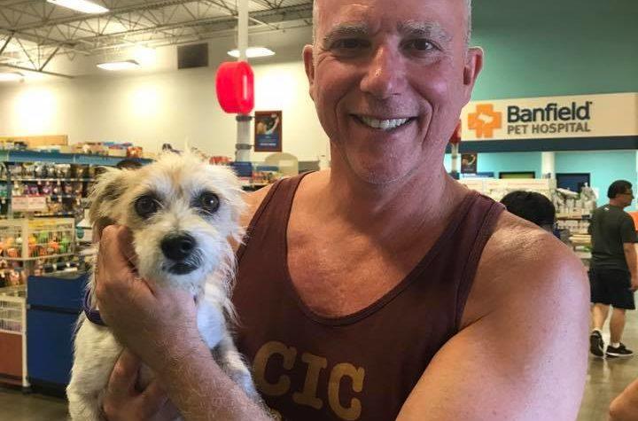 Dan Hanley and dog
